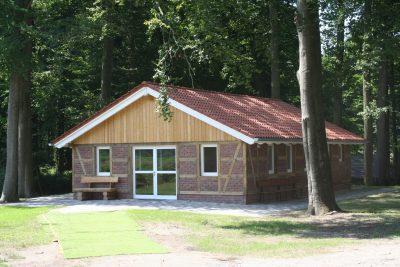 Bild vom neuen Fachwerkhaus Giebelseite Ost