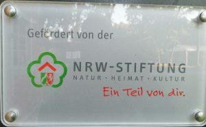 Schild der NRW Sfiftung